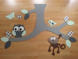 plafondtak met aap en uil