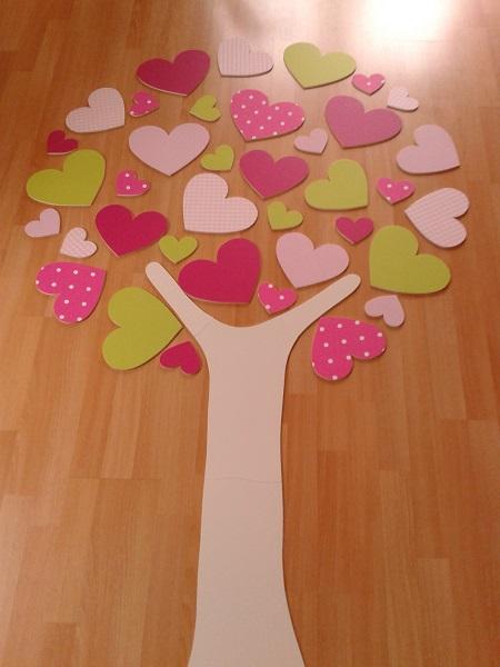 hartjesboom roze lime groen