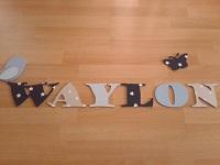 Houten letters WAYLON