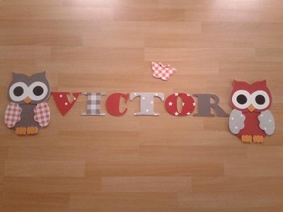 houten letters VICTOR