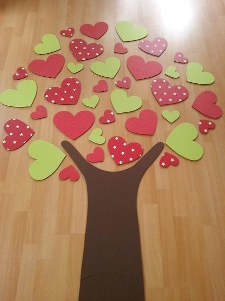 hartjesboom rood limegroen
