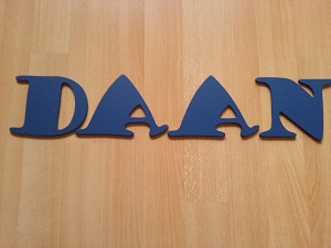houten letters DAAN