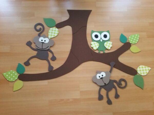 plafondtak met apen en uil