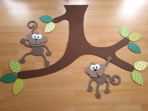 plafondtak met apen