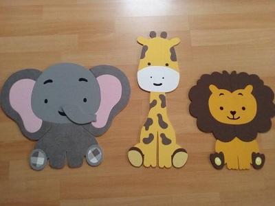 olifant giraf en leeuw