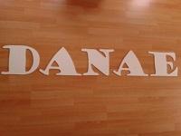 Houten letters DANAE