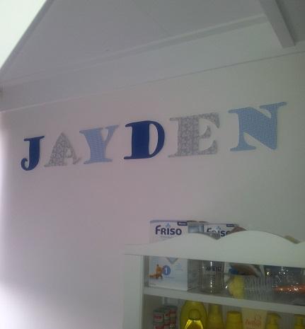 houten letters JAYDEN